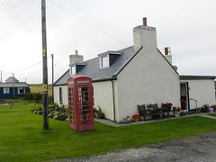 Red Telephone Box, Durness, North West Sutherland, August 2018 (allanmaciver) Tags: red phone box telephone durness smoo cave house chimney north west sutherland iconic wires allanmaciver