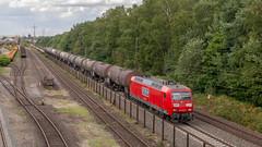 Duisburg Entenfang RBH 145 019 met olietrein (Rob Dammers) Tags: duisburg nordrheinwestfalen duitsland de