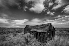 A Quiet Place (Ian Sane) Tags: ian sane images aquietplace old abandoned house field rural scene bakeovenroad maupin central oregon landscape photography monochrome blackwhite canon eos 5ds r camera ef1740mm f4l usm lens