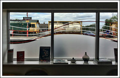 Room with a view (david.hayes77) Tags: runcorn cheshire class66 shed 66951 freightliner 4k88 virginlounge wcml westcoastmainline iphone5s apple window eurotainer tanker merseyside