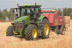 John Deere 7310R Tractor with a New Holland D1210 Square Baler (Shane Casey CK25) Tags: john deere 7310r tractor new holland d1210 square baler jd green killavullen traktor tracteur traktori trekker trator ciągnik grain harvest grain2018 grain18 harvest2018 harvest18 corn2018 corn crop tillage crops cereal cereals golden straw dust chaff county cork ireland irish farm farmer farming agri agriculture contractor field ground soil earth work working horse power horsepower hp pull pulling cut cutting knife blade blades machine machinery collect collecting nikon d7200