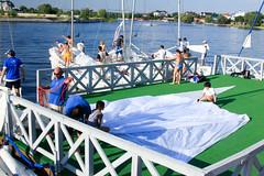 KRYC CUP 2014-4425 (amprophoto) Tags: sail sailing sailingyacht sailboat yachtrace regatta water wind white blue beneteau platu25 peoples sky sport spinnaker fun smile