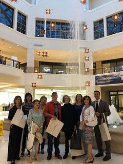 Touring Aventura Mall guided by Margery Gordon