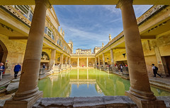 Roman Baths (abtabt) Tags: unitedkingdom uk england bath georgianarchitecture architecture museum romanbaths d700sigma1224 water people worldheritage