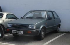 1988 Nissan Micra GSX Automatic (occama) Tags: e148mul 1988 nissan micra gsx automatic blue 988cc old car cornwall uk