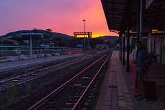 Aspettando Godot (Samuele Deiana fidelio86) Tags: trainstation sunset late waiting stazione tramonto ritardo samueledeiana canoneos700d httpwwwflickrcomphotosfidelio86 attesa lowkey