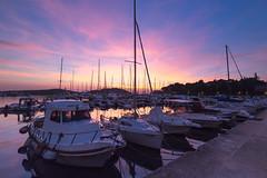 Sunset in Vrsar (Croatia) (Jana`s pics) Tags: hafen harbour marina boote boats sunset sonnenuntergang colorful sky himmel farbenfroh kroatien vrsar croatia orsera istrien istria