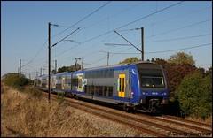 Cette UM de Z 23500 avec en tete la Z 23502 passe à Ostricourt le 22 septembre 2009. (Charly Souviraa) Tags: nord nordpasdecalais pasdecalais sncf z23500 z23502 ter