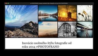 BLOG: Inovacie osobného štýlu fotografie od roku 2014 #PHOTOFRANO