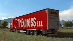 [ETS2] euro truck simulator 2 truckers virtual (trucker on the road) Tags: tir express iveco 500 krone trailer