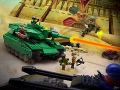 The Motor Pool: The MOBAT (1 of 4) (TJW Art) Tags: gijoe mobat hasbro toyphotography toys tankbattle tank kreo lego legophotography