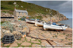 Old Fishermans Cottage & Fishing Boats at Penberth Cove ,Cornwall (www.andystuthridgenatureimages.co.uk) Tags: fishing cove cottage boats lobster pots nets rope beach sea ocean sky clouds cliff cornwall cornish bay shore penberth