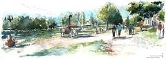 Oudon - les Artistiques (cmoreauart) Tags: landscape oudon sculpture trees harbour port fish sun water loire