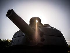 Le héros transpercé (scossu) Tags: vieuxcondé tourelle soldat soleil rayon impact