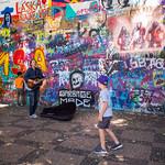 At the John Lennon Wall, Prague thumbnail