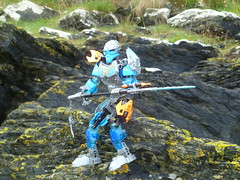 Gali resting. (Working hard for high quality.) Tags: lego toa bionicle uniter elemental power weapon plastic toy style