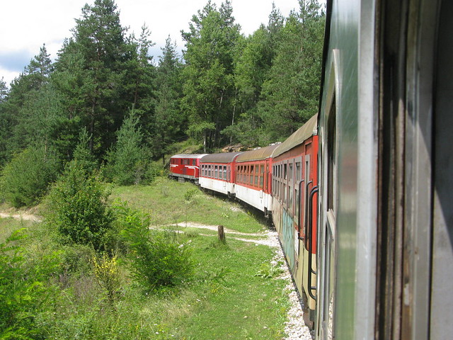 The narrow gauge train to Bansko