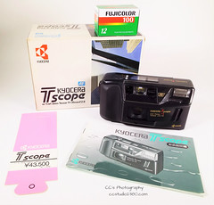 Kyocera T Scope - Yashica T3 (www.yashicasailorboy.com) Tags: yashica kyocera tscope t3 pointshoot 35mm film japan 1980s