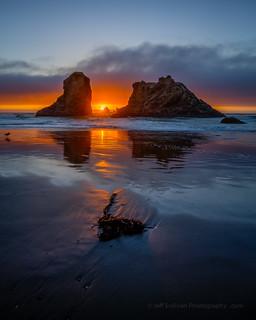 Bandon Rocks at Sunset