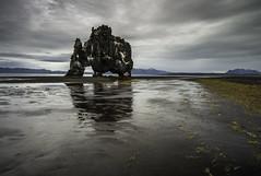 The Troll (Longleaf.Photography) Tags: hvitserkur troll beach coast iceland hvammstangi sea rock formation storm