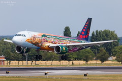 Brussels Airlines (ab-planepictures) Tags: ebbr bru brüssel flugzeug flughafen plane aircraft airport aviation planespotting tomorrowland brussels airlines airbus a320