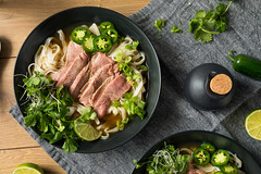 Homemade Beef Vietnamese Pho Soup (brent.hofacker) Tags: vietnamesepho asian background basil beef beefpho bowl broth chili chopsticks coriander cuisine delicious diet dinner dish food fresh green healthy herb hot lime lunch meal meat mint noodle onion pepper pho phosoup rare rice sliced soup spicy table vegetable vietnam vietnamese
