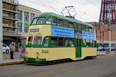 Heritage Tram (PD3.) Tags: blackpool fleetwood fylde lancashire transport bus buses trams tram north pier central south pleasure beach pcv psv talbot square heritage balloon 715