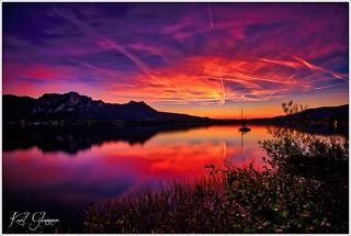 Mondsee Sonnenuntergang