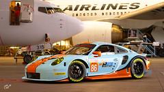 #86 Gulf Racing Porsche 911 RSR (chumako@bellsouth.net) Tags: dunlop wec 86 gaming scapes gtsport ps4 playstation cars racecar gulf rsr 911 porsche
