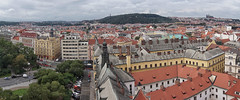 Panoramic Prague from New Town Hall (Novoměstská radnice) (beyondhue) Tags: new town hall novoměstská radnice beyondhue prague travel panorama city petrin castle