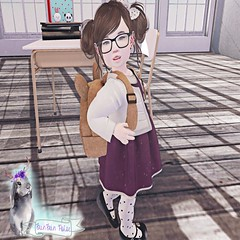 Back to School Pose (BunBun Poise) Tags: pose poses kid family mom school blog blogger store sl secondlife