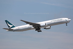 """Boeing, 777-367, B-HNP,  """"Cathay Pacific"""", VHHH, Hong Kong (Daryl Chapman Photography) Tags: bhnp boeing 777 773 777367 cx cpa cathaypacific 07r departure cx785 hongkong china sar canon 5d mkiv 100400lii 513 34243 plane aviation aviationphotography planespotting"""