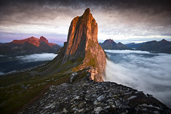 mount Segla (Ela Dzimitko) Tags: norway norwegia senja segla hesten fjord fjordgard ridge sunset red mefjord arctic arcticislands arcticcircle troms stunningoutdoors eladzimitko hiking mountains mountain hillwalking hills rock geology dramatic scenic seascape clouds lee leefilters
