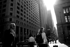 The Loop (draketoulouse) Tags: chicago loop city urban people blackandwhite monochrome business sun sunlight building street streetphotography