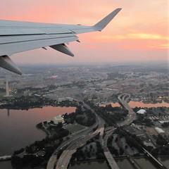 Jefferson Memorial at sunrise, aerial view of Washington, D.C. (Paul McClure DC) Tags: washingtondc aug2018 districtofcolumbia fromtheair scenery