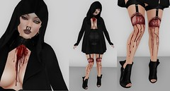August 22 2018 (Enigma Rae) Tags: bald me enigma eniggy self selfie ootd wear wore outfit buy dark cute girl woman photo edit photography collage black maitreya mandala lelutka dazed suicidal unborn reign coco pixicat conviction static
