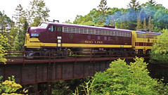 Soo Line EMD FP7 2500-A, Talmadge River - North Shore MN USA, 08/26/18 (TonyM1956) Tags: elements sonyalphadslr sonyphotographing tonymitchell