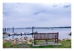 Cuttyhunk Island (Timothy Valentine) Tags: 2018 0818 bench gallivanting sky ocean boats monday gosnold massachusetts unitedstates us