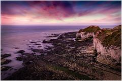 Flambrough Colours (urfnick) Tags: bridlington england unitedkingdom gb sunset sunrise nature clouds moody canon 6dmkii beach ocean sea waves cliffs rocks pool shadow yorkshire wave sundaylights