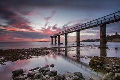 Sky High (Antony Eley) Tags: pier wharf jetty sunrise longexposure nature landscape reflection coastline