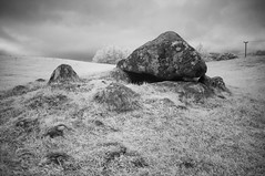 Carrowmore (Infrakrasnyy) Tags: infrared ir 093 sony nex 5n converted camera full spectrum deep black white monochrome bw ireland sligo erie strandhill carrowmore an cheathrú mhór megalithic cemetery