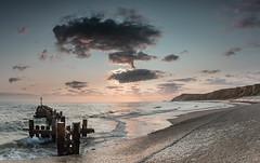 Early Light on West Runton Beach (andybam1955) Tags: earlymorninglight bluesea blue beach landscape waves westruntonbeach dawn coastal westrunton sky northnorfolk seascape clouds norfolk sea
