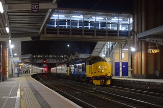 The Driver puts on the power as 37409 clears the Tunnel at Ipswich and accelerates away, with a dead MkIII set recovered from Colchester and headed for Norwich Crown Point. 31 08 2018