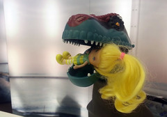 Boy's Toy meets Girl's Toy (My Best Images) Tags: finland helsingfors toy doll dinosaurie