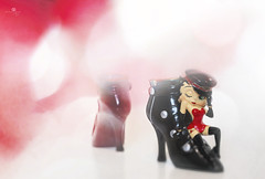 these boots are made for struttin' (rockinmonique) Tags: 52in52 201852weekthemechallenge onesagiftfromcharlotte bettyboop small ornaments collectables composite moniquewphotography canon canont6s tamron tamron45mm copyright2018moniquewphotography
