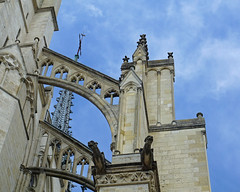 By design (Francoise100) Tags: spire towers flyingbuttress gothique arcboutant unescoworldheritagesite amiens cathedral cathédrale arches gargoyle sky architecture gothic stonework
