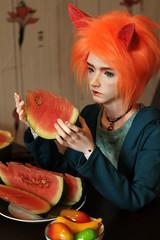 Watermelon (Anima_Sol) Tags: bjd migidoll ell watermelon fox kitsune