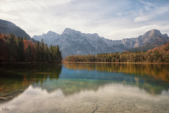 Almsee (Claudia Brockmann) Tags: natur nature landscape landschaft see sea almsee austria österreich wasser water baum bäume tree trees reflections reflection spiegelung spiegelungen mountain mountains berge berg sky