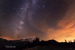 Milky Way over Mt Rainier. ( Mt Rainier NP, Sunrise) (Sveta Imnadze) Tags: nature landscape nightscape mtrainier mtrainiernp sunrise wa pacificnorthwest milkyway