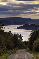 Beatiful view over the fjord (bogroa) Tags: nordvik blomlia fjord water sunset autumn norway beautiful colours evening